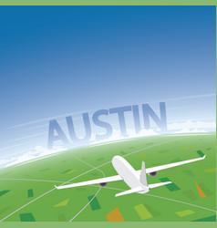 Austin flight destination vector