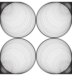 Black and White Abstract Psychedelic Background vector image vector image