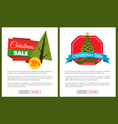 christmas sale off card vector image