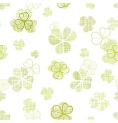 Clover textile textured line art seamless pattern vector