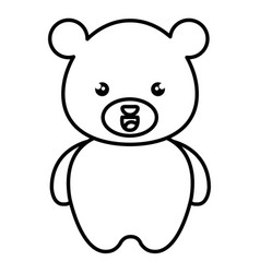 cute and tender bear kawaii style vector image vector image