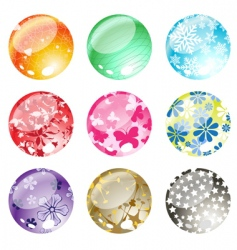 decorative balls set vector image