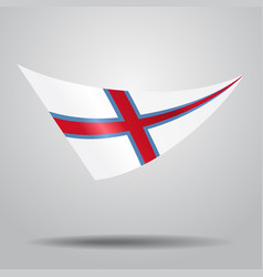 Faroe islands flag background vector