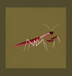 Flat shading style mantis vector