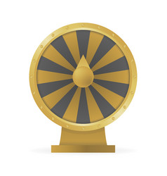 Fortune wheel concept to win money and prizes vector