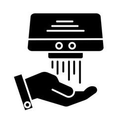 Hand dryer icon black sign vector
