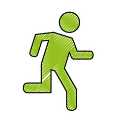 human figure running silhouette icon vector image vector image