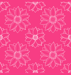 Lotus modern pink seamless pattern vector
