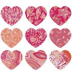 Love heart icon set vector