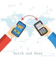 Quick and easy mobile payment vector