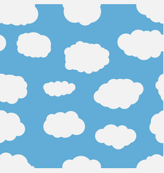 seamless background with blue sky vector image