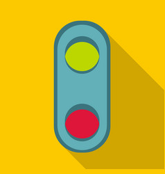 Semaphore traffic light icon flat style vector