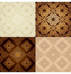 Set of seamless pattern in islamic style vector