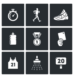 Sport Walking icons vector image vector image