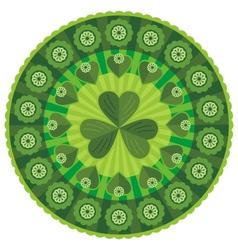 st patricks day badge pattern vector image vector image