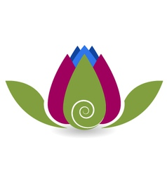 Swirly lotus flower yoga meditation vector image vector image
