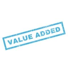 Value added rubber stamp vector
