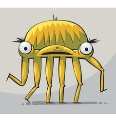walking creature vector image vector image