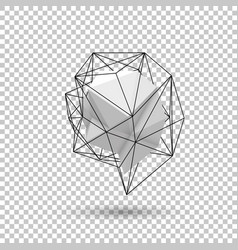 white abstract polygonal shape vector image