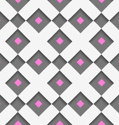 White geometrical ornament with white net and pink vector