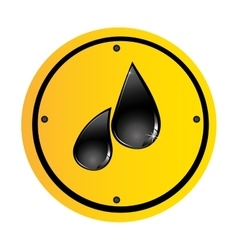 Oil drop icon image vector