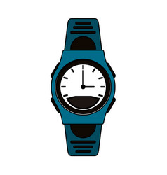 Colorful graphic sport male wristwatch vector
