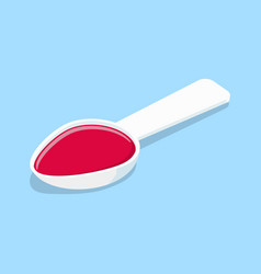 Medical mixture in white spoon vector