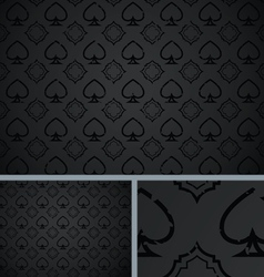 Black vintage poker spade distressed background vector