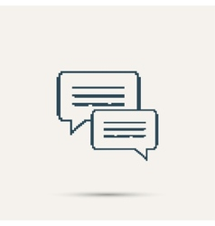 Simple pixel icon dialog messages design vector