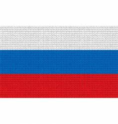 Knitted russian flag vector
