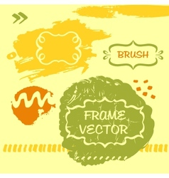 Grungy background and frame vector