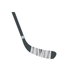 Hockey stick flat icon vector
