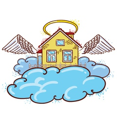 Angel house color version vector