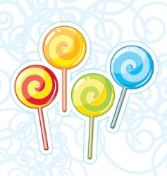Four lollipops vector