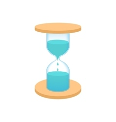 Hourglass with dripping water icon cartoon style vector