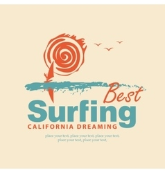 The best surfing in california vector