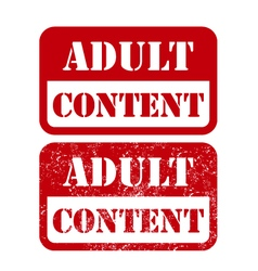 Adult content sign - shabby stamp vector