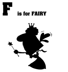 Cartoon fairy with letter vector image vector image