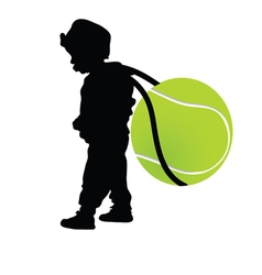 child holding tennis ball vector image