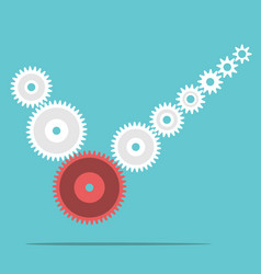 cogs forming check mark vector image