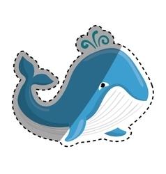 Cute whale cartoon vector image vector image