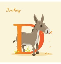D for donkey vector image vector image