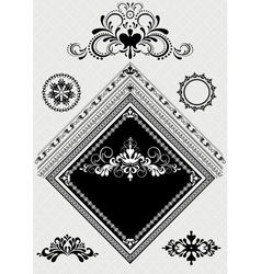 Design decor with ornament for angle page vector image