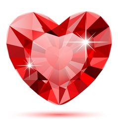 Diamond heart isolated vector image vector image