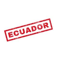 Ecuador rubber stamp vector