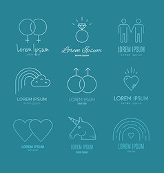 Gay icons vector