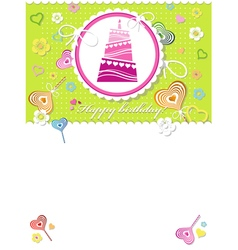 Happy birthday background or card vector image vector image