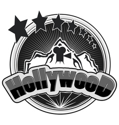 Hollywood logos vector image vector image