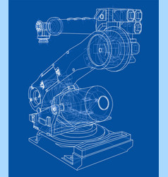 Industrial robot manipulator image vector