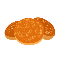 Isolated bakery cookies vector